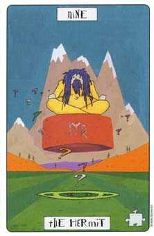 The Hermit Tarot Card - Phantasmagoric Tarot Deck
