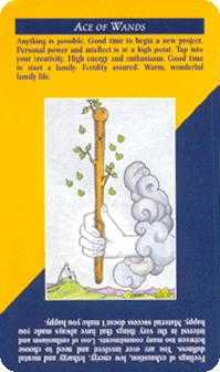 Ace of Pipes Tarot Card - Quick and Easy Tarot Deck