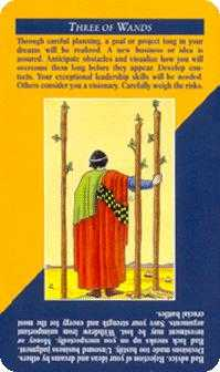 Three of Pipes Tarot Card - Quick and Easy Tarot Deck