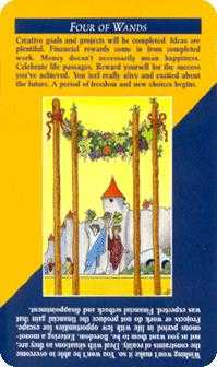 Four of Staves Tarot Card - Quick and Easy Tarot Deck