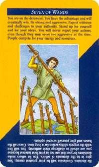 Seven of Rods Tarot Card - Quick and Easy Tarot Deck
