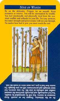 Nine of Pipes Tarot Card - Quick and Easy Tarot Deck