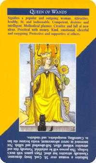 Queen of Staves Tarot Card - Quick and Easy Tarot Deck