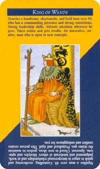 King of Staves Tarot Card - Quick and Easy Tarot Deck
