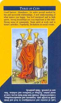 Three of Bowls Tarot Card - Quick and Easy Tarot Deck