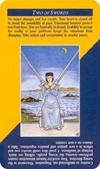 Two of Arrows Tarot Card - Quick and Easy Tarot Deck
