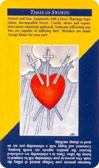 Three of Swords Tarot Card - Quick and Easy Tarot Deck