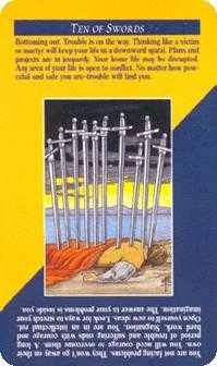 Ten of Arrows Tarot Card - Quick and Easy Tarot Deck