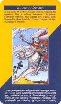 Cavalier of Swords Tarot Card - Quick and Easy Tarot Deck
