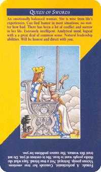 Queen of Arrows Tarot Card - Quick and Easy Tarot Deck