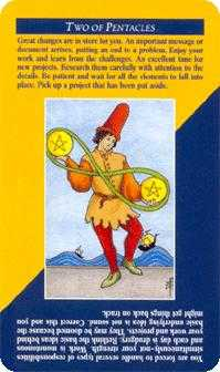 Two of Coins Tarot Card - Quick and Easy Tarot Deck