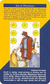 Six of Discs Tarot Card - Quick and Easy Tarot Deck