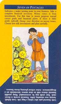 Seven of Pentacles Tarot Card - Quick and Easy Tarot Deck
