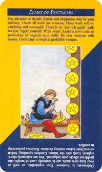 Eight of Discs Tarot Card - Quick and Easy Tarot Deck