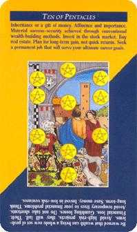 Ten of Discs Tarot Card - Quick and Easy Tarot Deck