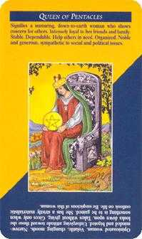 Reine of Coins Tarot Card - Quick and Easy Tarot Deck