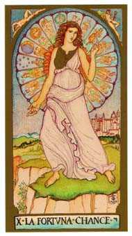 Wheel of Fortune Tarot Card - Renaissance Tarot Deck