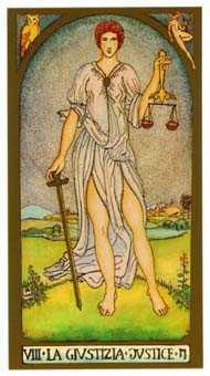 Justice Tarot Card - Renaissance Tarot Deck