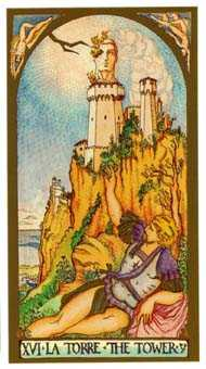 The Blasted Tower Tarot Card - Renaissance Tarot Deck