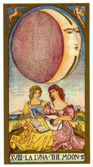 The Moon Tarot Card - Renaissance Tarot Deck