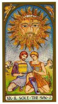 The Sun Tarot Card - Renaissance Tarot Deck