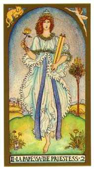 The High Priestess Tarot Card - Renaissance Tarot Deck