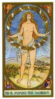The World Tarot Card - Renaissance Tarot Deck