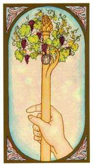 Ace of Staves Tarot Card - Renaissance Tarot Deck