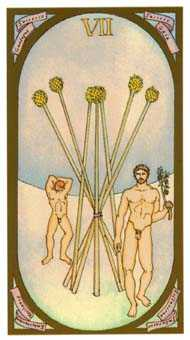Seven of Staves Tarot Card - Renaissance Tarot Deck
