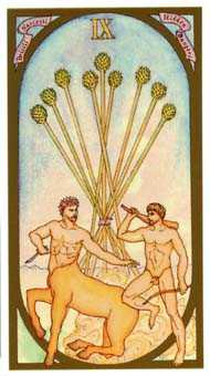 Nine of Batons Tarot Card - Renaissance Tarot Deck