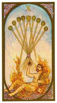 Ten of Staves Tarot Card - Renaissance Tarot Deck