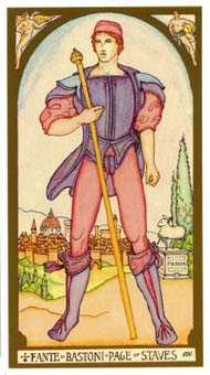 Page of Staves Tarot Card - Renaissance Tarot Deck