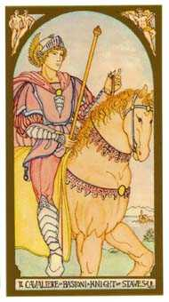 Knight of Rods Tarot Card - Renaissance Tarot Deck