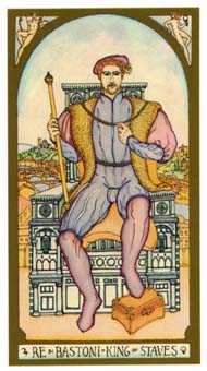 King of Staves Tarot Card - Renaissance Tarot Deck