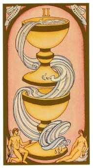 Two of Ghosts Tarot Card - Renaissance Tarot Deck