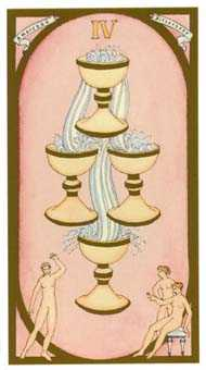 Four of Cups Tarot Card - Renaissance Tarot Deck