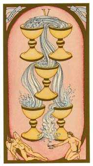 Five of Ghosts Tarot Card - Renaissance Tarot Deck
