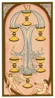 Six of Ghosts Tarot Card - Renaissance Tarot Deck