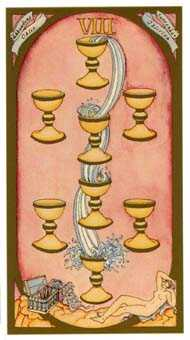 Eight of Bowls Tarot Card - Renaissance Tarot Deck