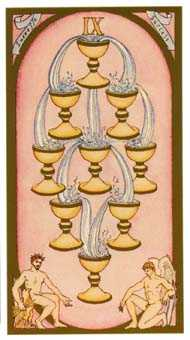 Nine of Bowls Tarot Card - Renaissance Tarot Deck