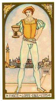 Daughter of Cups Tarot Card - Renaissance Tarot Deck
