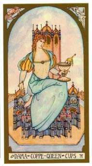Queen of Bowls Tarot Card - Renaissance Tarot Deck