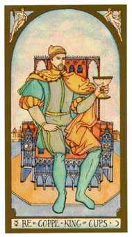 Roi of Cups Tarot Card - Renaissance Tarot Deck