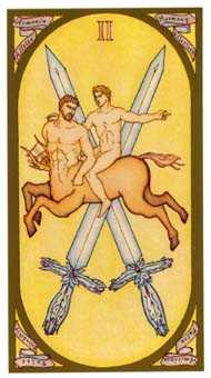 Two of Arrows Tarot Card - Renaissance Tarot Deck
