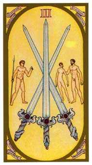 Three of Bats Tarot Card - Renaissance Tarot Deck