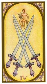 Four of Arrows Tarot Card - Renaissance Tarot Deck