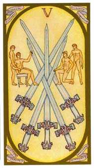 Five of Swords Tarot Card - Renaissance Tarot Deck