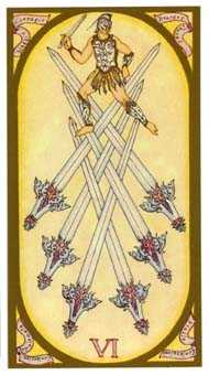 Six of Arrows Tarot Card - Renaissance Tarot Deck