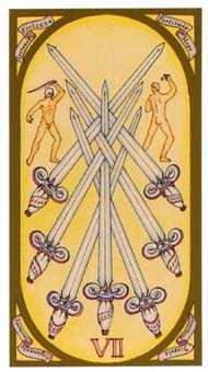 Seven of Arrows Tarot Card - Renaissance Tarot Deck