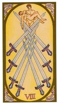 Eight of Arrows Tarot Card - Renaissance Tarot Deck